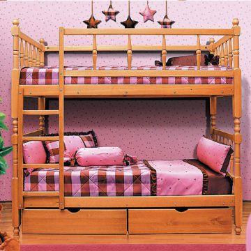 Кровать 2-х ярусная с фигурными спинками-фото