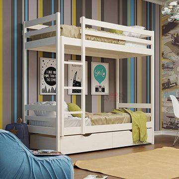 Кровать 2-х ярусная №1 из массива-фото