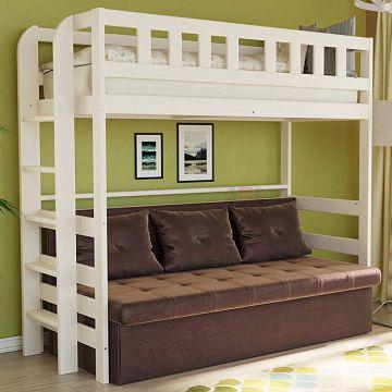 Кровать 2-х ярусная №4 из массива-фото