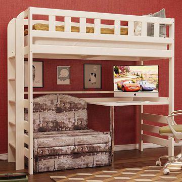 Кровать 2-х ярусная №5 из массива-фото