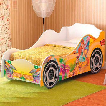 """Кровать для девочки """"Омега-12"""" (ЛДСП)-фото"""