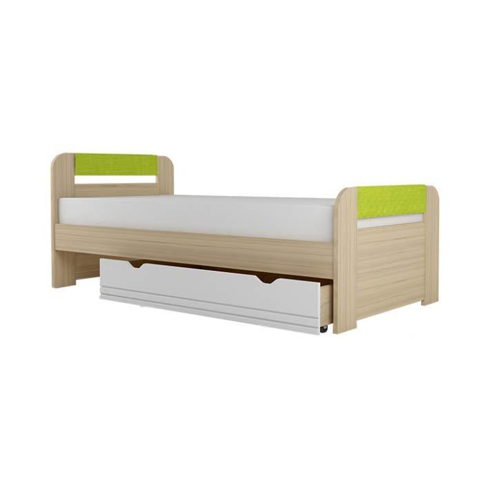 """Кровать """"Стиль 1200.3"""" с ящиком Лайм"""