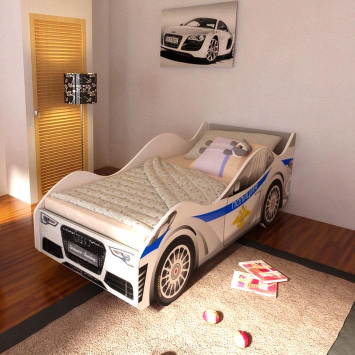 """Детская кровать-машинка """"Полиция"""""""