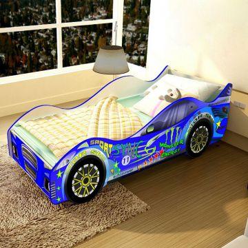 """Детская кровать-машинка """"Спорт-синяя""""-фото"""