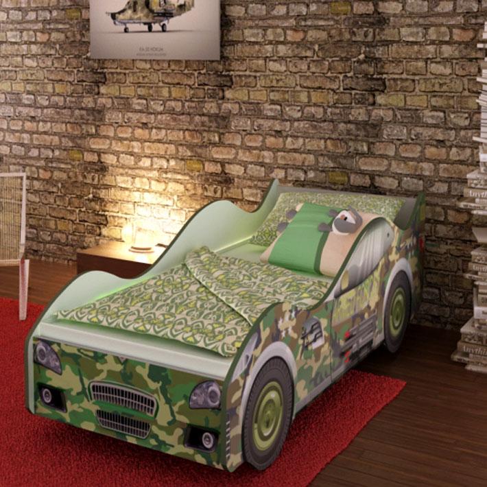 """Детская кровать-машинка """"Военная"""""""