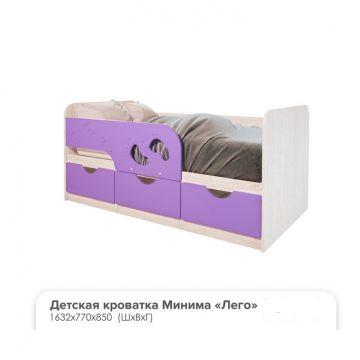 """Кровать Детская """"Минима Лего лиловый сад""""-фото"""