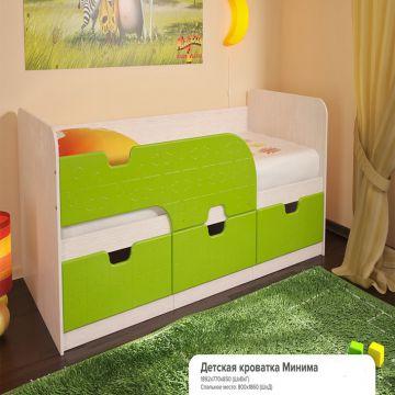 """Кровать Детская """"Минима лайм""""-фото"""