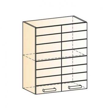 "Шкаф навесной ""Виктория"" L600 H720 (2 дв. гл.)-фото"