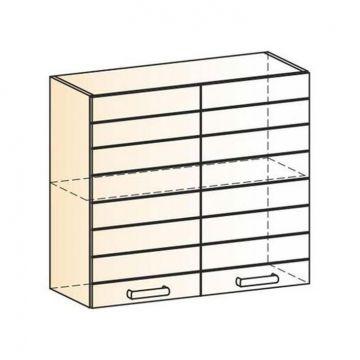 "Шкаф навесной ""Виктория"" L800 H720 (2 дв. гл.) -фото"