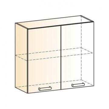 "Шкаф навесной ""Яна"" L800 H720 (2 дв. гл.)-фото"