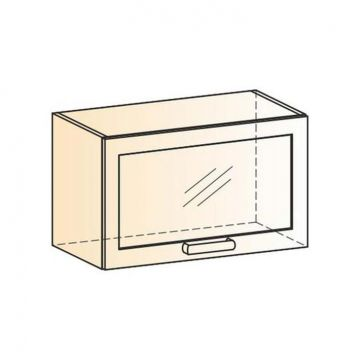"Шкаф навесной ""Яна"" L600 H360 (1 дв. рам.)-фото"
