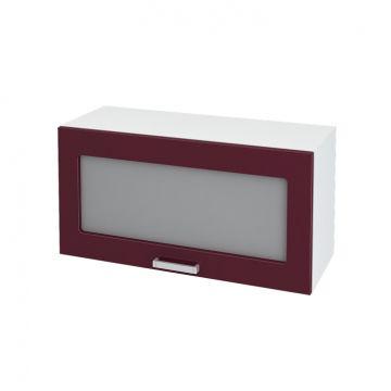 Кухня модульная Ксения (шкаф горизонтальный со стеклом 800)-фото