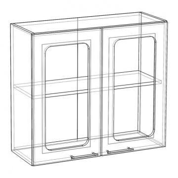 "Шкаф навесной стекло НСТ-800 ""Апекс""-фото"