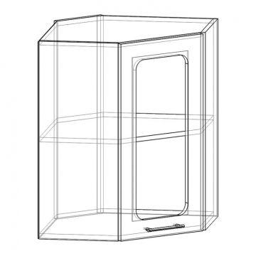"""Шкаф навесной угловой (стекло) НУС-550 """"Арчи""""-фото"""