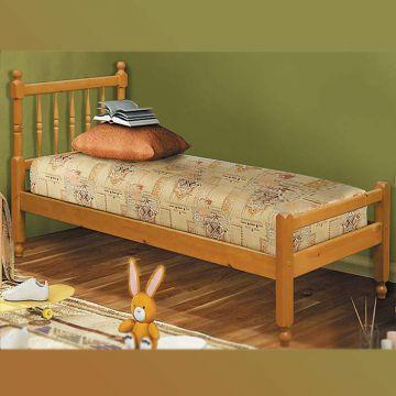 """Кровать """"Фант-10"""" с фигурными спинками из массива-фото"""