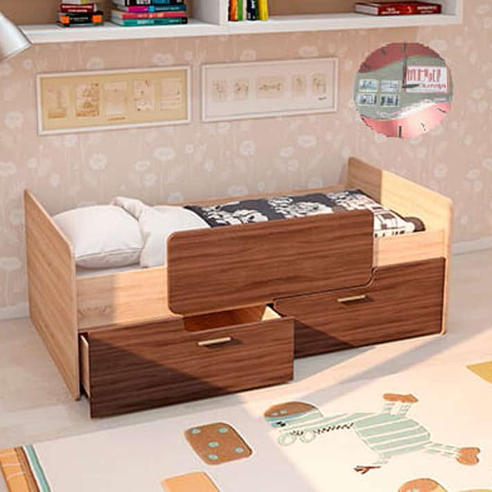 """Кровать """"Умка"""" с 2-мя ящиками"""
