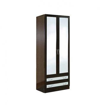 """Шкаф 2-створчатый с 2-мя ящиками и зеркалами VR-04G """"Кэт 1 Caiman""""-фото"""