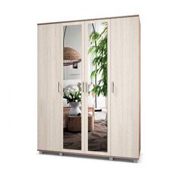 "Шкаф ""Ева"" 4-х створчатый с зеркалом Е41-фото"