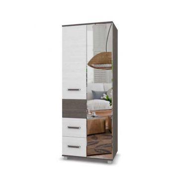 """Шкаф """"Виора"""" 2-х створчатый с зеркалом и выдвижными ящиками В24-фото"""