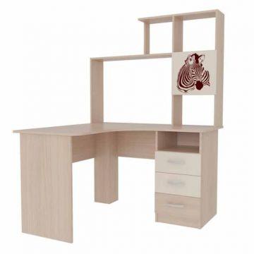 Стол компьютерный угловой Галерея 1200 с надстройкой-фото