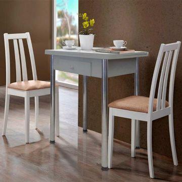 Стол обеденный раздвижной с ящиком-фото